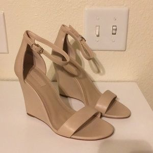 Forever 21 Nude Wedges NWOT
